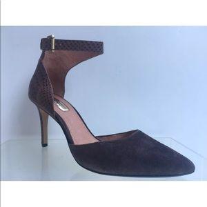 Halogen Ankle Strap Dark Brown Heels Size 8.5
